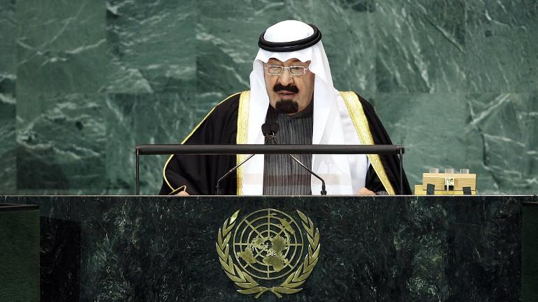 Abdullah Bin Abdulaziz Al-Saud, King of Saudi Arabia, addresses a General Assembly meeting on the Culture of Peace at United Nations on Nov. 12, 2008. (Paulo Filgueiras/UN Photo)