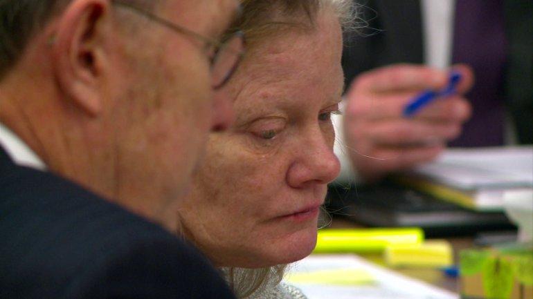 Terri Supino wiped away tears as she heard opening statements (WHO-HD)