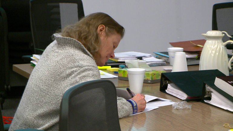 Terri Supino writes with her right hand but told a jail employee she is ambidextrous. The culprit is thought to be left handed or ambidextrous (WHO-HD)