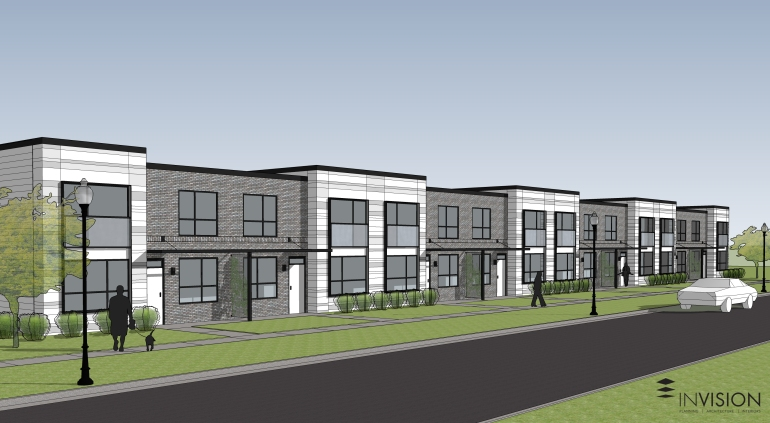Madison Terrace Townhomes are one project in the works by the Neighborhood Development Corporation (Photo Courtesy: Neighborhood Development Corporation and Invision Architecture)