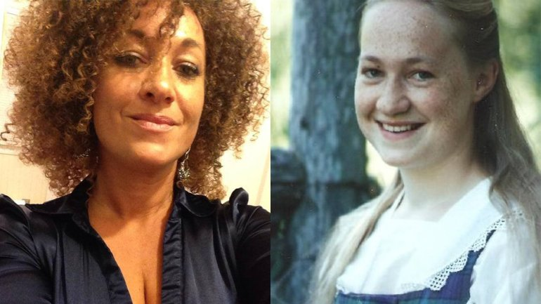 Rachel Dolezal, former president of the NAACP chapter in Spokane, Washington, resigned Monday, June 15, 2015, amid allegations of lying about her race. Dolezal is also a quarterly professor at Eastern Washington University. The photograph on the left is her headshot from the University. The photograph on the right was provided by her parents.