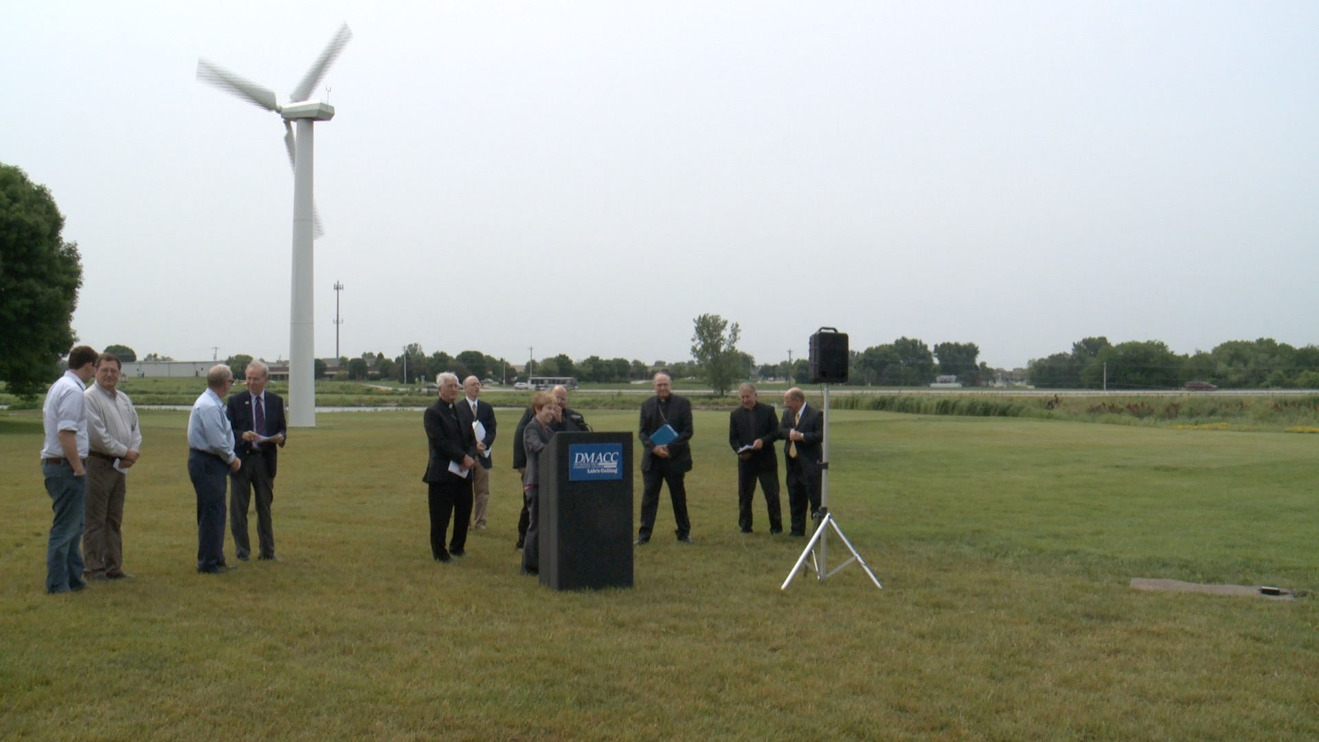 Iowa Catholic Leaders gather at DMACC Ankeny to discuss Climate Change (Roger Riley WHO-HD)