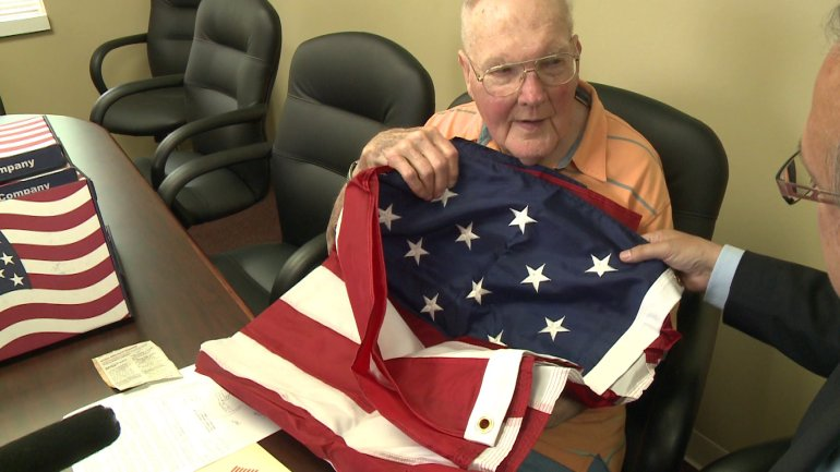 Gerald La Blanc presented with flag flown over U.S. Capitol in his honor. (WHO-HD)