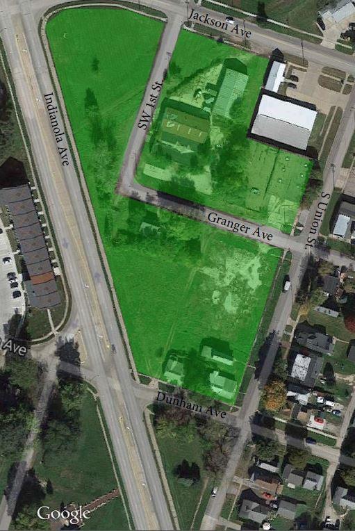 The location of Dunham Square apartments. (Photo Courtesy: Neighborhood Development Corporation)