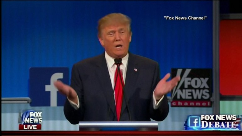 Donald Trump at GOP presidential debate.