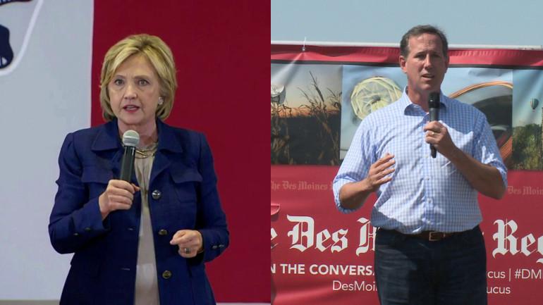 Hillary Clinton and Rick Santorum (WHO-HD)