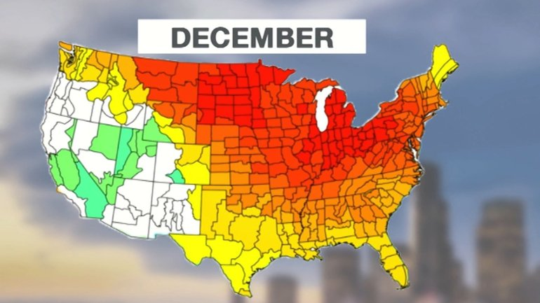 In December 2015. there have been more than 2,600 record high temperatures recorded and less than 150 record lows.