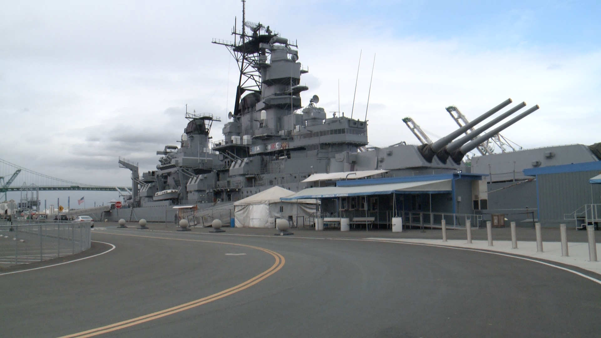USS Iowa will host Hawkeye pep rally on dock in San Pedro CA (Roger Riley WHO-HD)