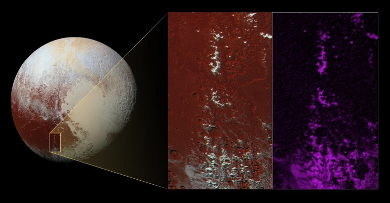 One of Pluto's most recognizable features may be covered in snow.