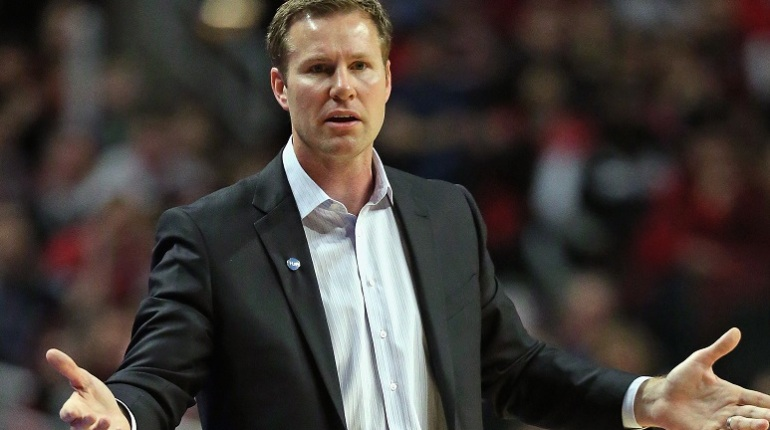 CHICAGO, IL - FEBRUARY 27: Head coach Fred Hoiberg of the Chicago Bulls questions a call during a game against the Portland Trail Blazers at the United Center on February 27, 2016 in Chicago, Illinois. The Trail Blazers defeated the Bulls 103-95. NOTE TO USER: User expressly acknowledges and agrees that, by downloading and or using the photograph, User is consenting to the terms and conditions of the Getty Images License Agreement. (Photo by Jonathan Daniel/Getty Images)