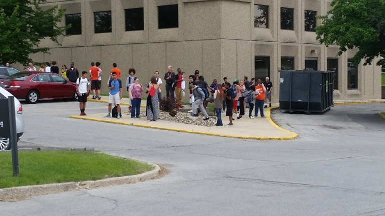 Valley high schoolers evacuated and relocated to West Tower (Lee Rousel/WHO-HD)