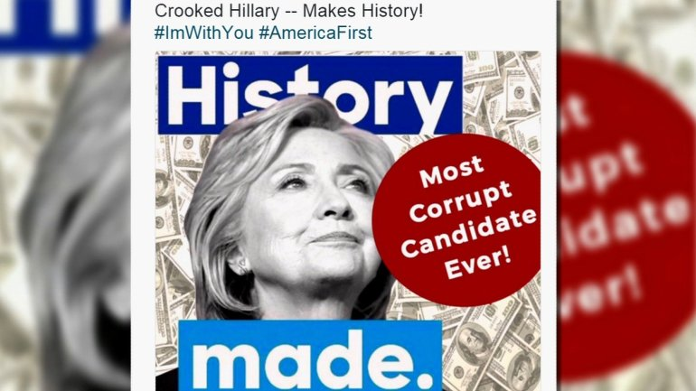Donald Trump on Saturday deleted a tweet critical of Hillary Clinton after he came under fire for evoking anti-Semitic stereotypes with a graphic that included dollar bills and a six-pointed star.