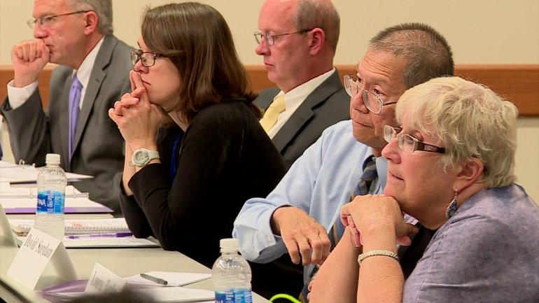 UNI president search committee meets. (KWWL)