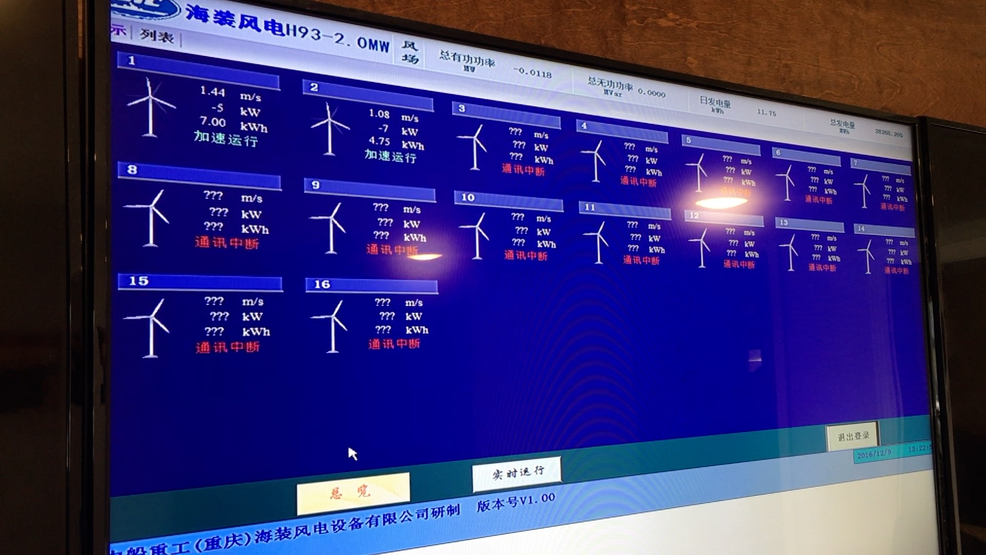 HZ Windpower Monitors turbines from an office in Nevada. (Roger Riley WHO-HD)
