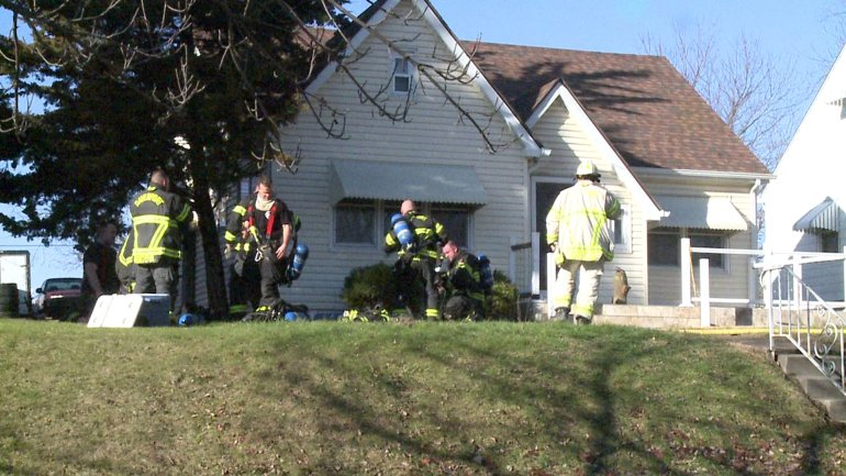 A Davenport house fire Monday morning left one man in the hospital. (WHO-HD)