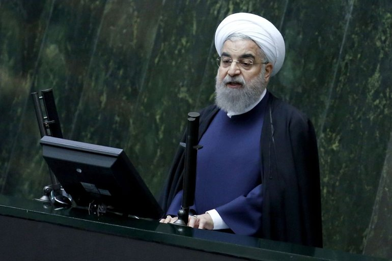 Iran's President Hassan Rouhani presents to the parliament his budget for 2017-2018, on December 4, 2016, in Tehran. / AFP / ATTA KENARE        (Photo credit should read ATTA KENARE/AFP/Getty Images)