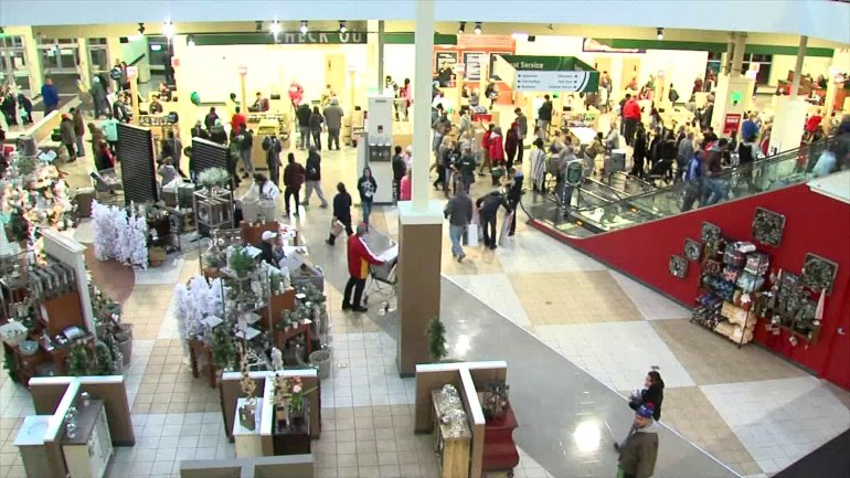 Shoppers return to metro malls to return gifts after Christmas. (NBC)