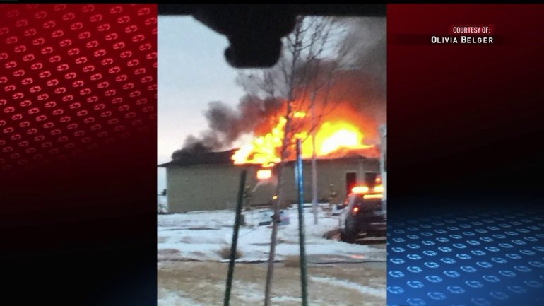 A house in Urbandale caught fire on Sunday. (WHO-HD, via Olivia Belger)