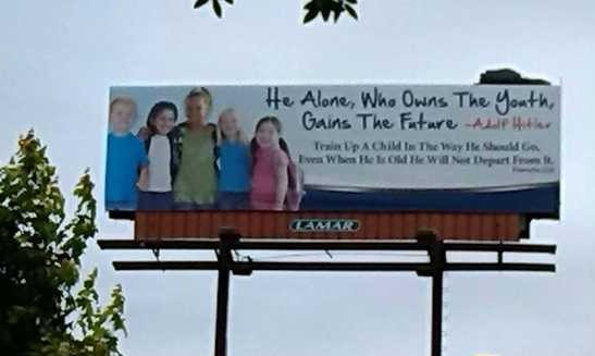 hitler billboard