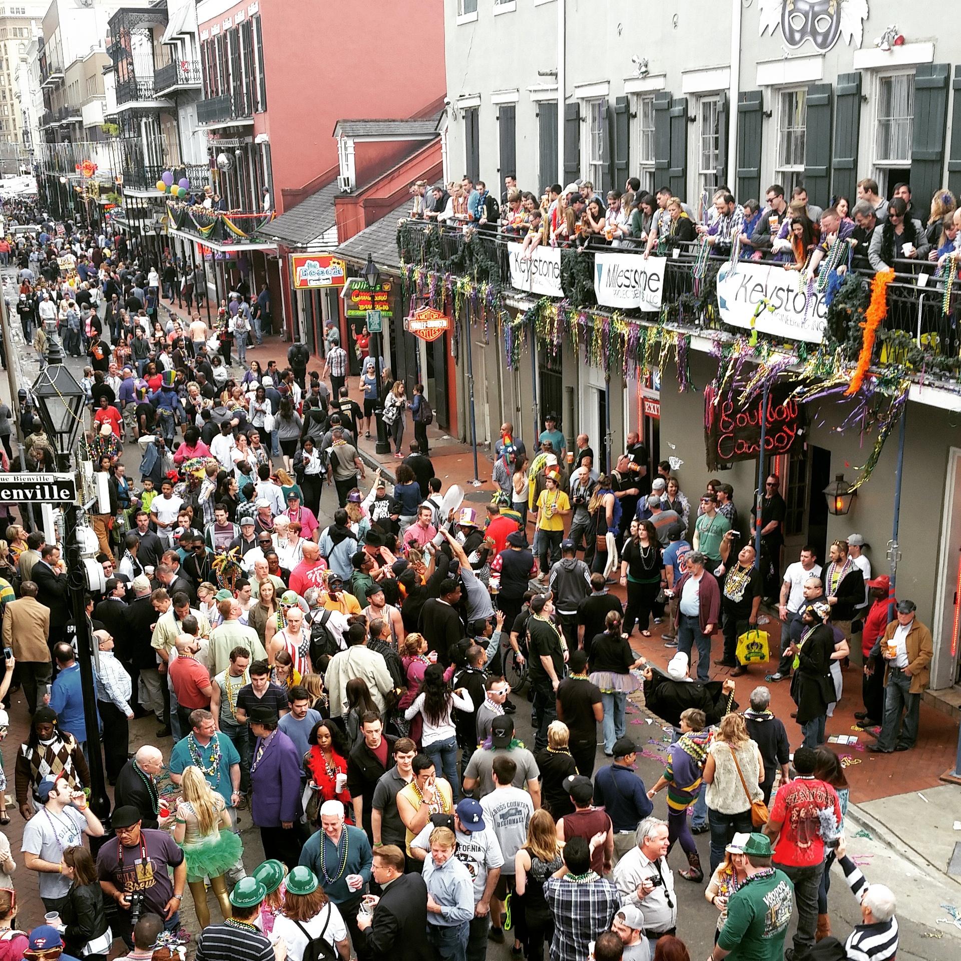 Bourbon Street on Lundi Gras