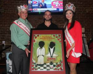 The 2015 Ponchatoula Strawberry Festival poster by Kalle Siekken. (Courtesy Ponchatoula Strawberry Festival)