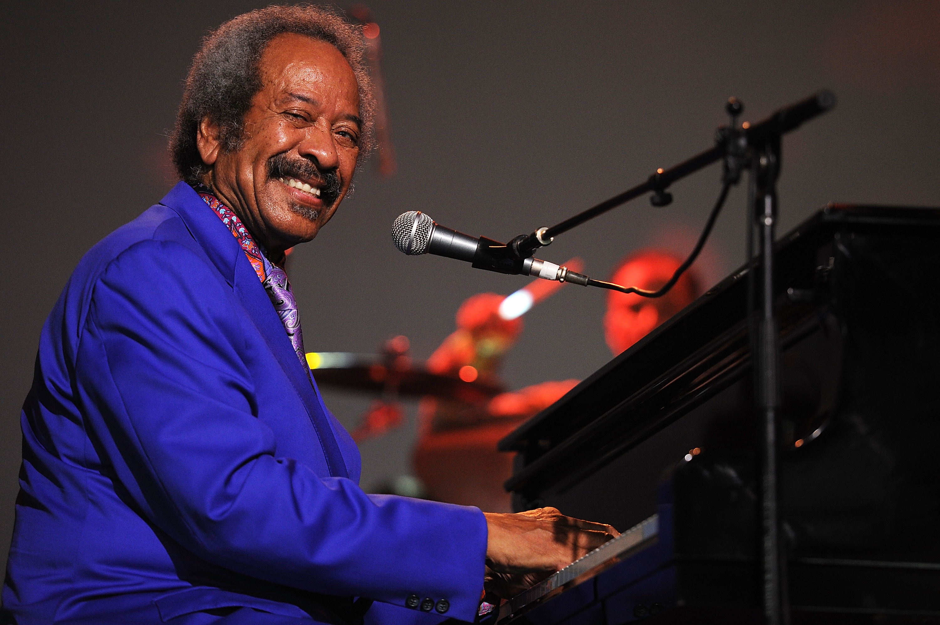 BYRON BAY, AUSTRALIA - MARCH 31:  Allen Toussaint performs on stage at Bluesfest 2013 - Day 4 on March 31, 2013 in Byron Bay, Australia.  (Photo by Matt Roberts/Getty Images)