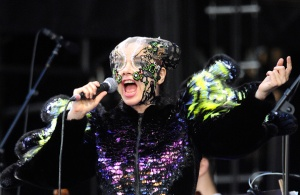 NEW YORK, NY - JUNE 06: Bjork performs during 2015 Governors Ball Music Festival at Randall's Island on June 6, 2015 in New York City. (Photo by C Flanigan/WireImage)