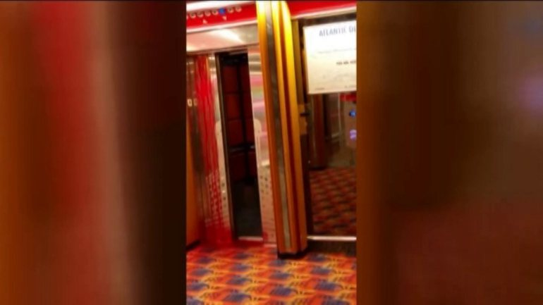A crew member on a Caribbean cruise ship died while working on an elevator, the company said.