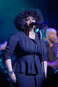 LOUISVILLE, KY - DECEMBER 11: Jill Scott performs at The Louisville Palace on December 11, 2015 in Louisville, Kentucky. (Photo by Stephen J. Cohen/Getty Images)