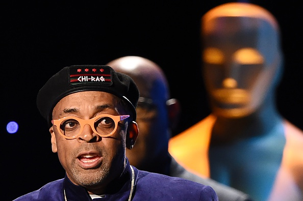 Director Spike Lee speaks on stage after being presented with an honorary Oscar award, during the 7th annual Governors Awards ceremony presented by the Board of Governors of the Academy of Motion Picture Arts and Sciences at the Hollywood & Highland Center in Hollywood, California on November 14, 2015. AFP PHOTO / ROBYN BECK (Photo credit should read ROBYN BECK/AFP/Getty Images)