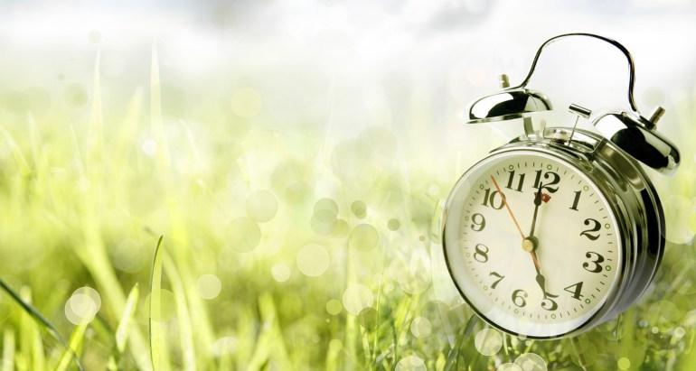 Spring, time, daylight savings