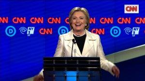 Hillary Clinton at the CNN Democratic Debate in Brooklyn, New York on 4/14/16