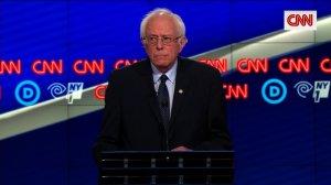 Bernie Sanders at the CNN Democratic Debate in Brooklyn, New York on 4/14/16