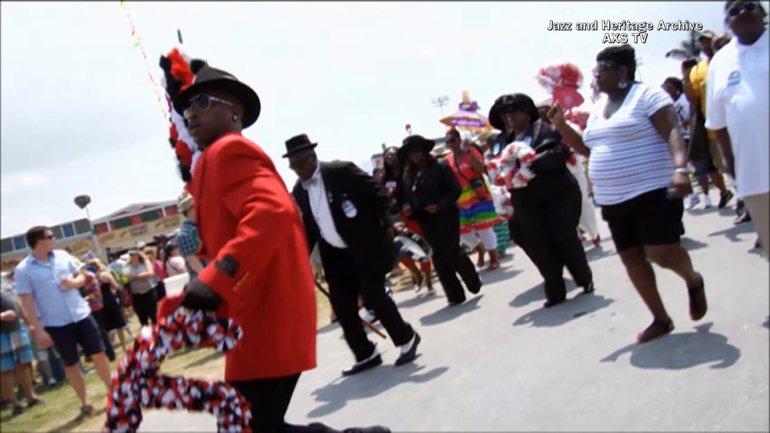 Social and Pleasure Club Parade at New Orleans Jazz and Heritage Festival