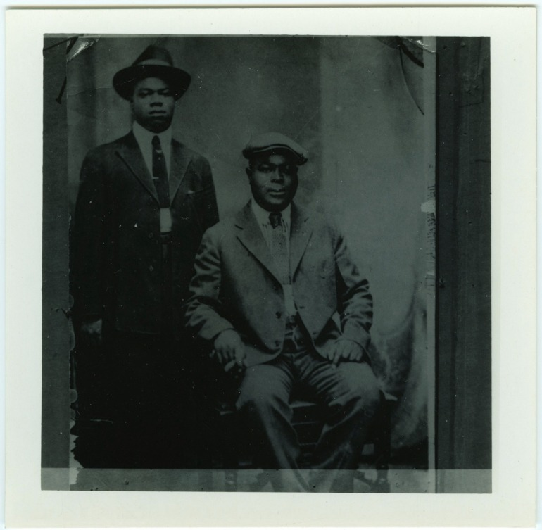 Louis Armstrong and Joe King Oliver (Credit: The William Russell Jazz Collection at The Historic New Orleans Collection, acquisition made possible by the Clarisse Claiborne Grima Fund.)