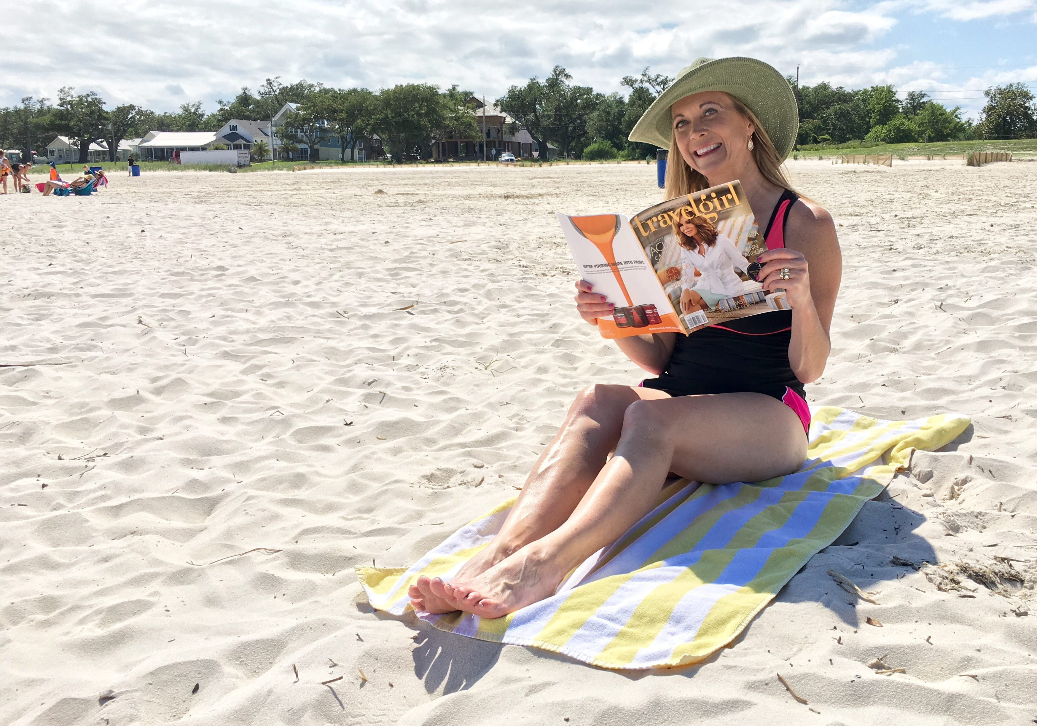 Plant your beach towel and relax with a great book or magazine. (Derek Felton/WGNO)