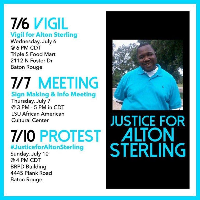 Alton Sterling vigil info