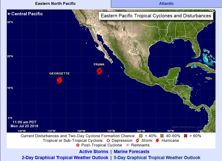 Current tropical activity in the Pacific Basin