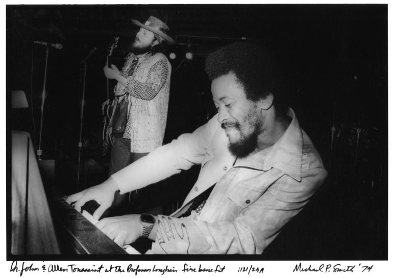 Dr. John and Allen Toussaint 1974(Photograph by Michael P. Smith © The Historic New Orleans Collection)