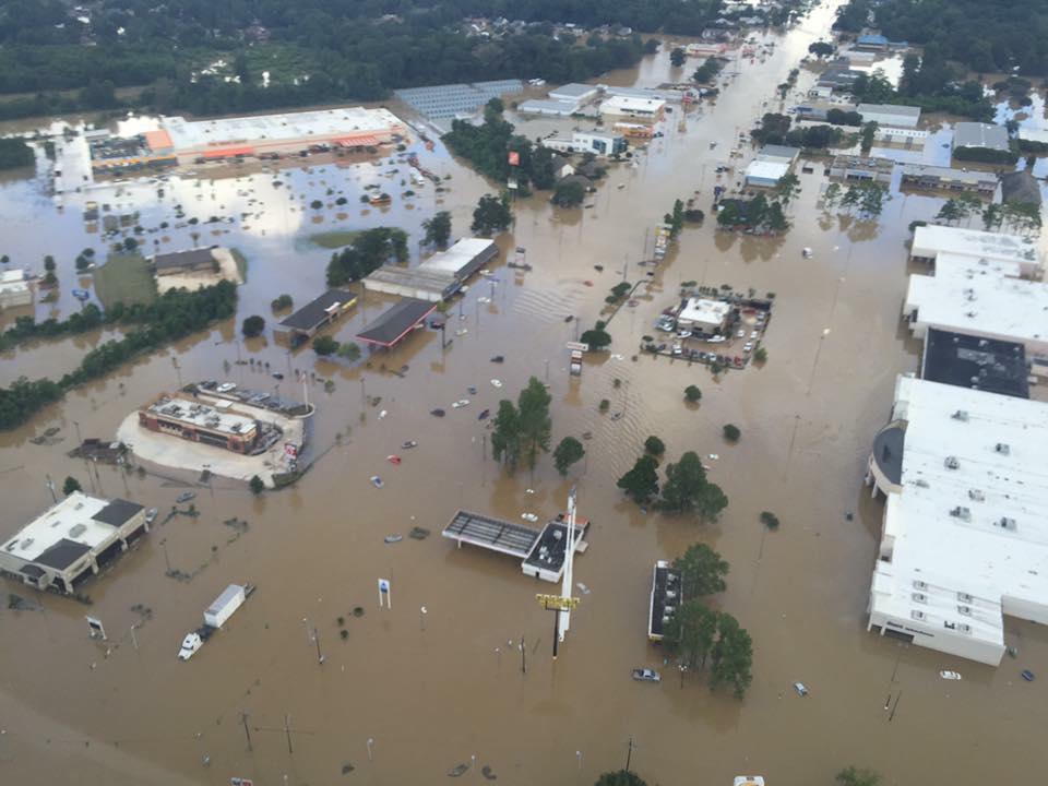 Flooding in Denham Springs courtesy GOHSEP Facebook page