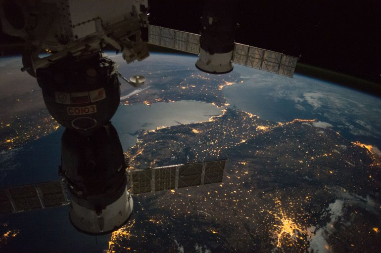 Straight of Gibraltar from the ISS Courtesy: NASA.gov