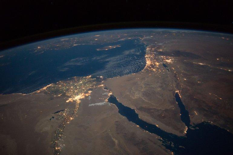 Sinai Peninsula, Nile River and Israel from the ISS Courtesy: NASA.gov