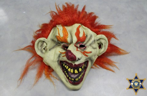 Photo of the mask worn by the teens courtesy Lafourche Parish Sheriff's Office
