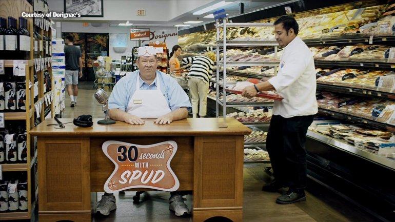 "John ""Spud"" McConnell in Dorignac's commercial (Courtesy of Dorignac's)"