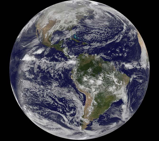 Credit: NOAA/NASA GOES Project