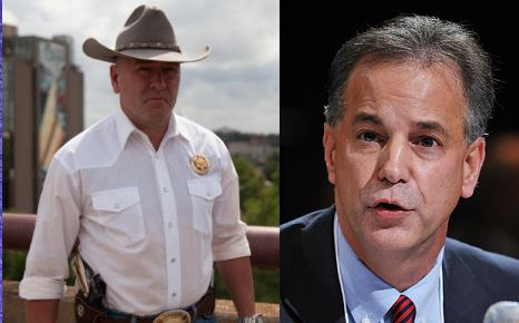 Clay Higgins, left, and Scott Angelle, right