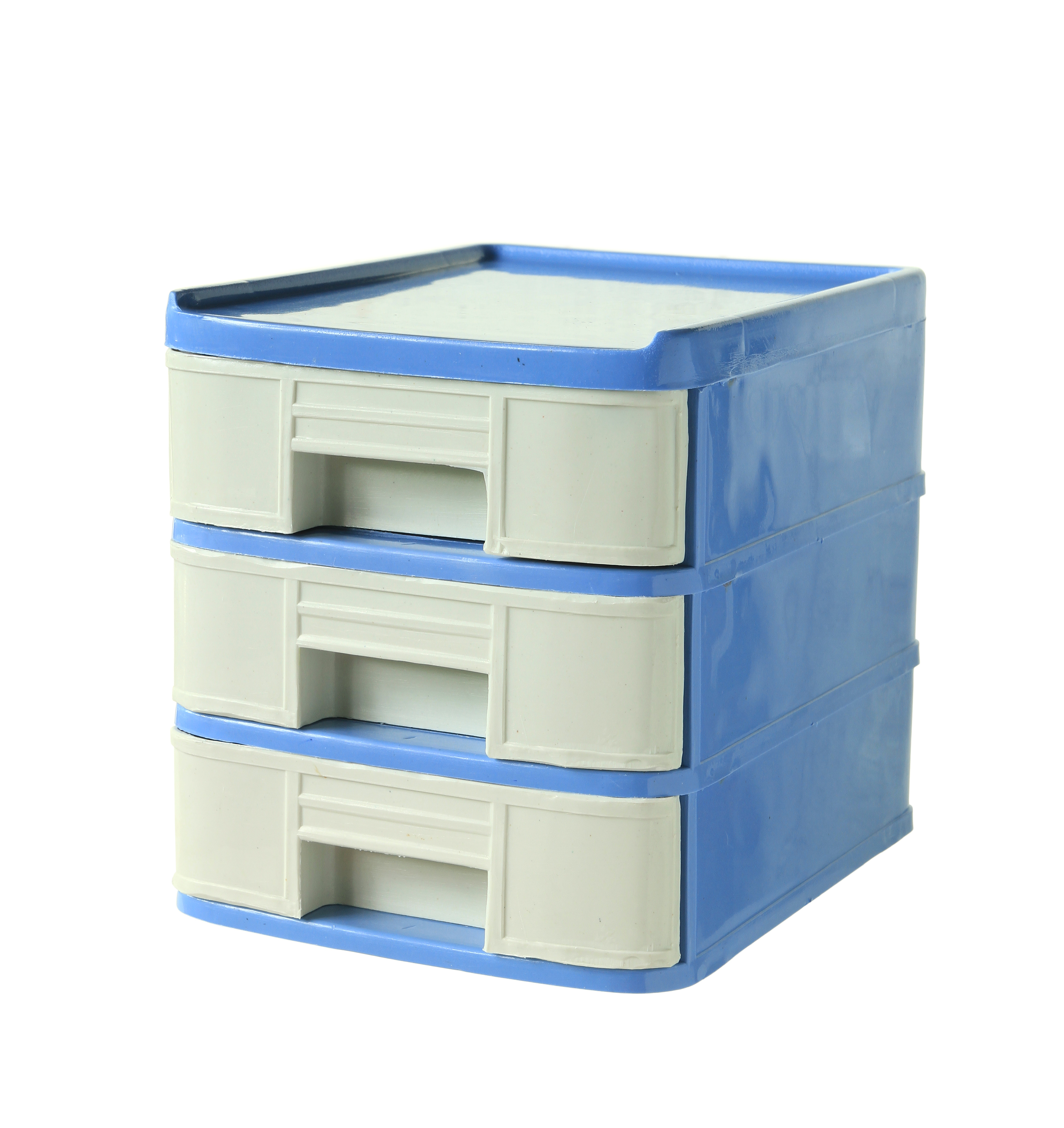 Plastic drawers can be filled with napkins, plastic cutlery, etc.