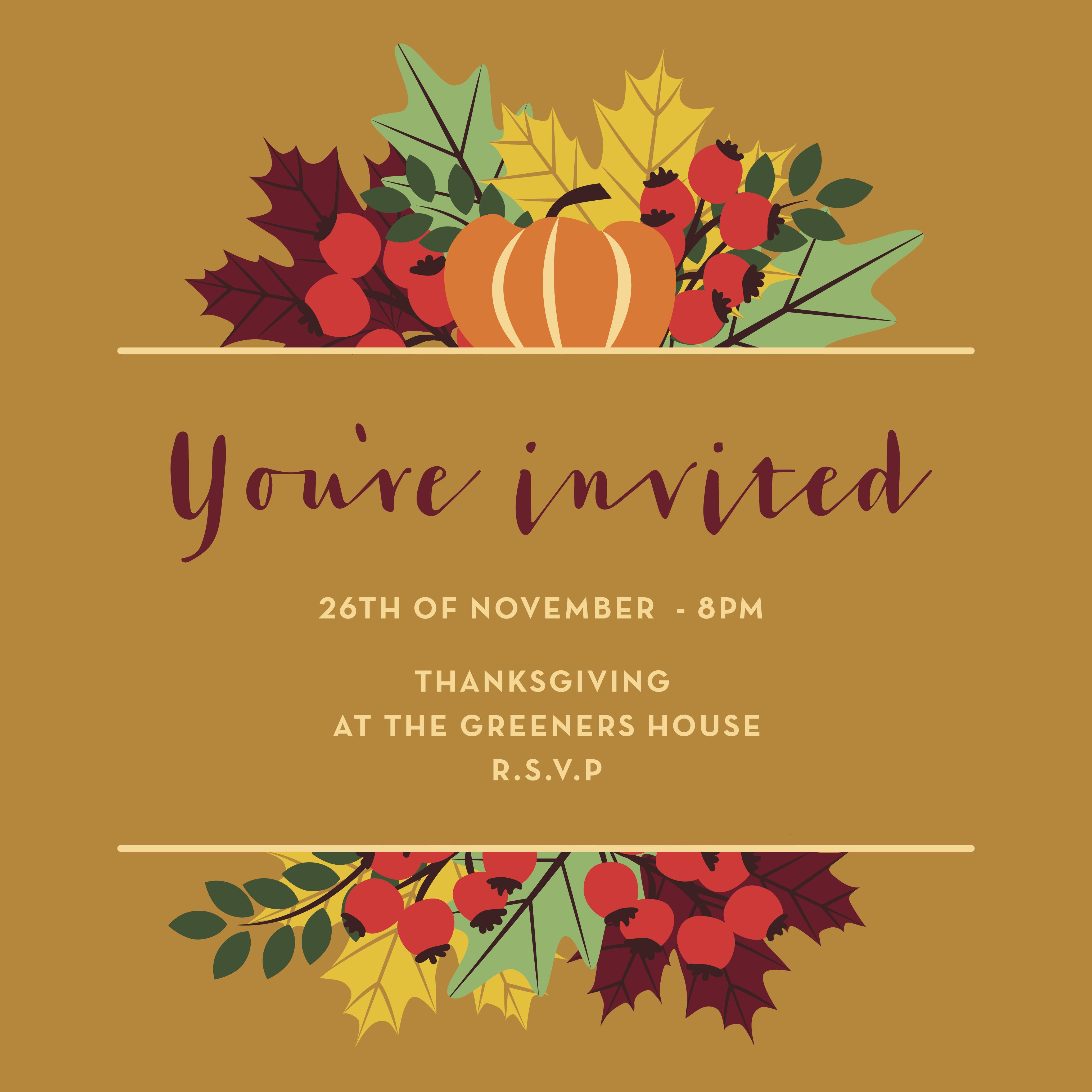 Read invitations carefully.