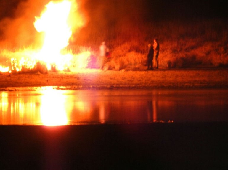 Police and about 400 people who were protesting the Dakota Access Pipeline clashed Sunday November 20, 2016 evening as demonstrators lit cars on fire and police launched tear gas and water at the crowds.