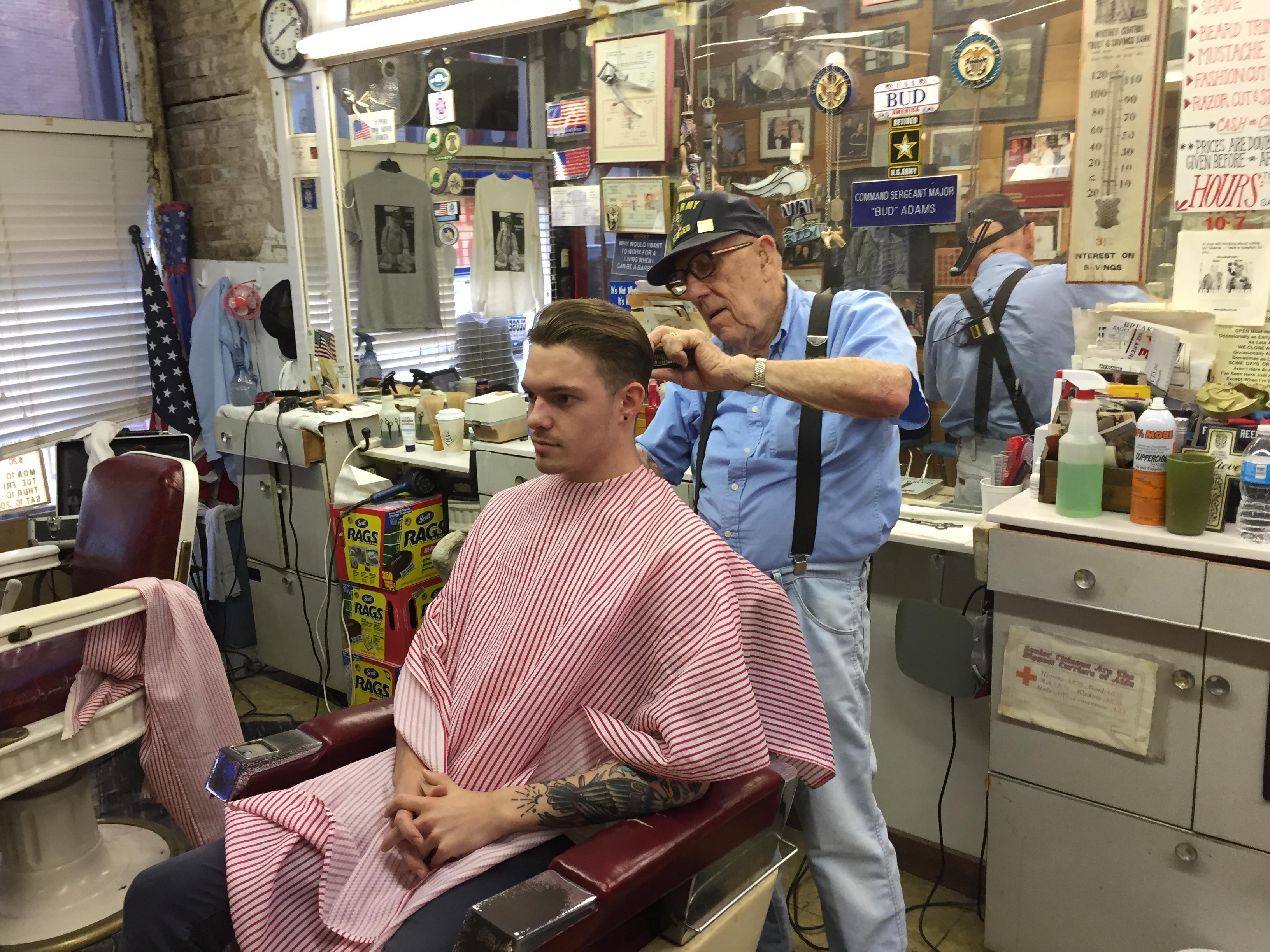 Oak Street Barber Bud Adams